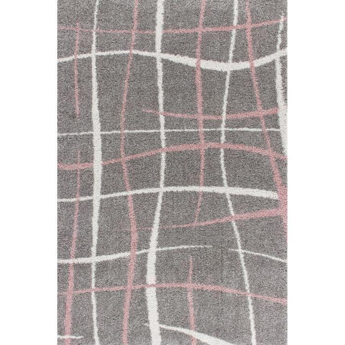 Tapis shaggy argenté FASHION II Lalee - 80 x 150 cm - Ce tapis shaggy ...