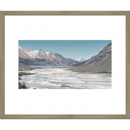 Image encadr e argentine 50x60 cm beige achat vente for Image encadree decoration