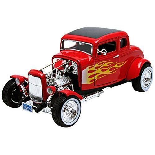 motormax 73172 flames v hicule miniature mod le l 39 chelle ford hot rod coupe 1932. Black Bedroom Furniture Sets. Home Design Ideas