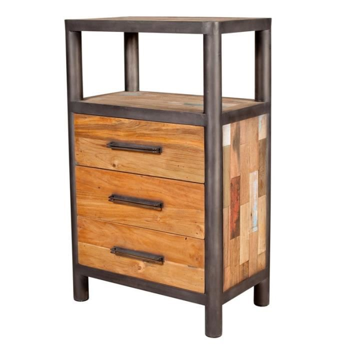 chiffonnier 3 tiroirs 1 niche modernity achat vente. Black Bedroom Furniture Sets. Home Design Ideas