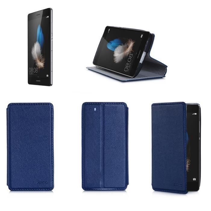 etui coque huawei p8 lite bleu housse pochette achat coque bumper pas cher avis et. Black Bedroom Furniture Sets. Home Design Ideas