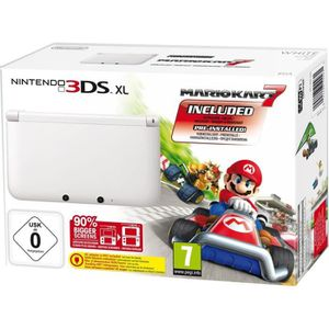 Pack Console 3DS XL Blanche + Jeu Mario Kart 7