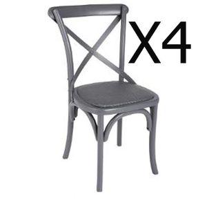 chaise bistrot bois achat vente chaise bistrot bois pas cher les soldes sur cdiscount. Black Bedroom Furniture Sets. Home Design Ideas