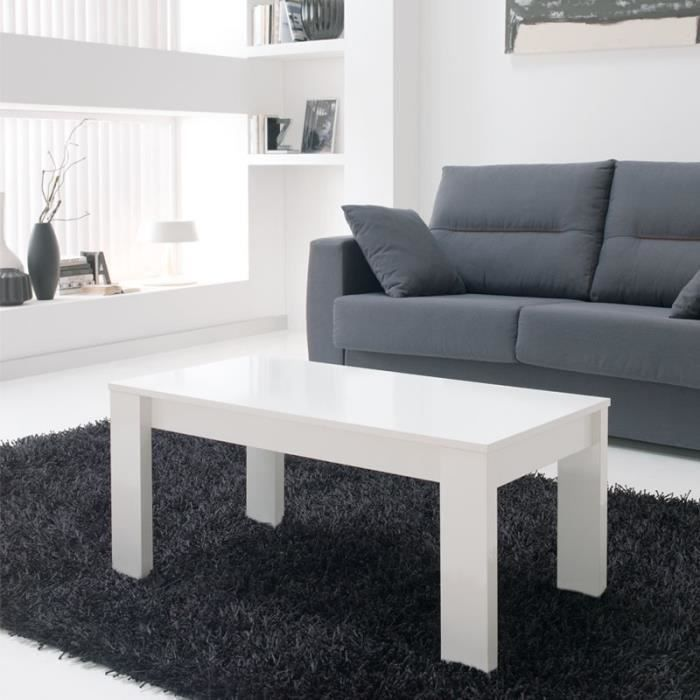 table basse relevable blanche malia taille l 110 x l 60 x 44 55 couleur marketing. Black Bedroom Furniture Sets. Home Design Ideas