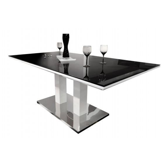 Table tower plateau verre 180cm achat vente table a for Plateau table 180