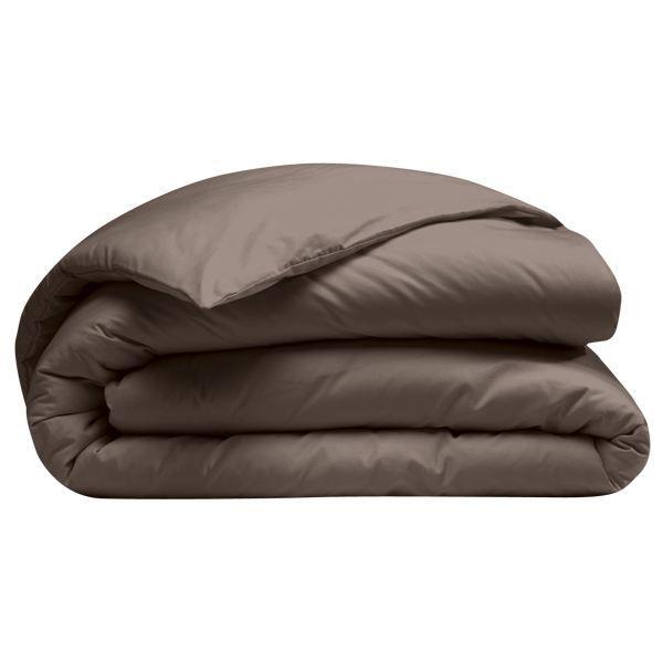 housse de couette 200x200 cm 100 coton bio marron achat. Black Bedroom Furniture Sets. Home Design Ideas