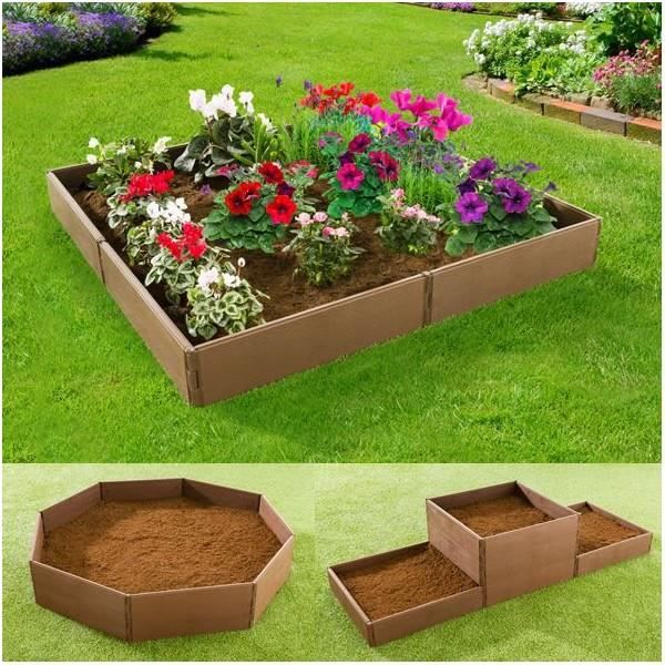 jardini re chassis bordurette de jardin modulable 8 pcs achat vente jardini re pot fleur. Black Bedroom Furniture Sets. Home Design Ideas