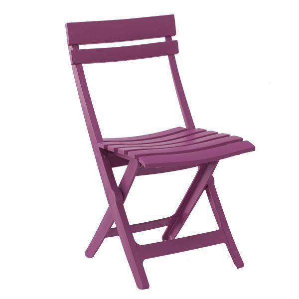 Chaise de jardin pliante design miami rose fushia achat vente chaise fauteuil jardin for Chaise de jardin rose