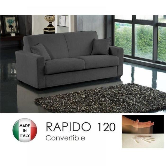 canap convertible rapido 120cm dreamer tissu m achat vente canap sofa divan m tal. Black Bedroom Furniture Sets. Home Design Ideas