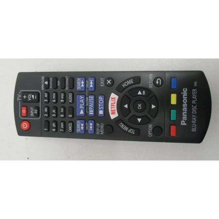 telecommande pour lecteur dvd blu ray panasonic n2qayb001030 dmp bdt171ef t l commande tv. Black Bedroom Furniture Sets. Home Design Ideas