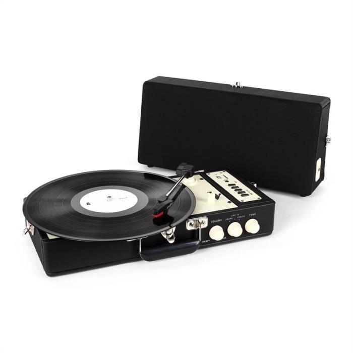 ricatech rt98 platine vinyle noir platine vinyle avis et prix pas cher cdiscount. Black Bedroom Furniture Sets. Home Design Ideas