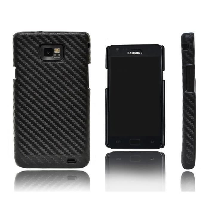 Xcessor carbon fibre tui pour samsung galaxy s2 achat for Housse samsung galaxy s2