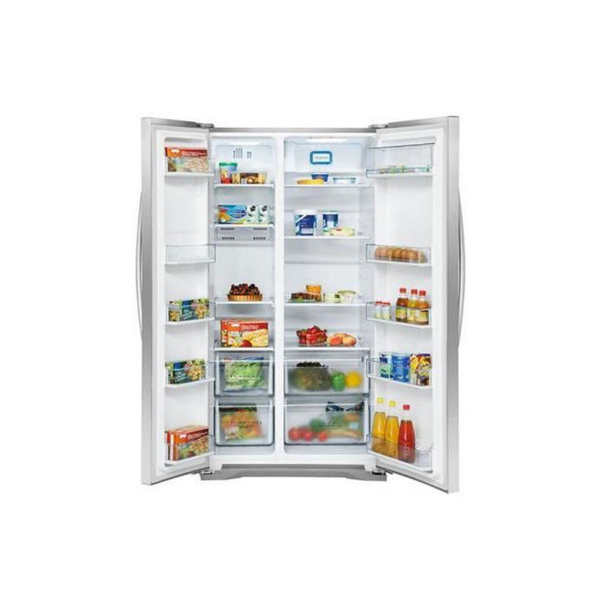 R frig rateur double porte 562 litres en acier inoxydable for Refrigerateur americain porte miroir