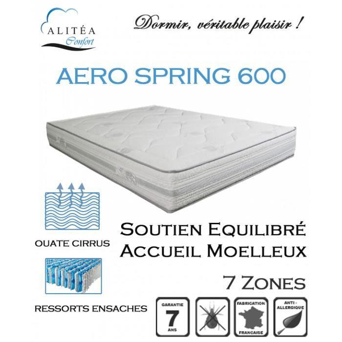 alitea matelas aero spring 600 140x190 ressorts achat vente matelas cdiscount. Black Bedroom Furniture Sets. Home Design Ideas