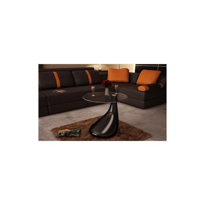 Table basse de salon noire achat vente table basse - Table salon noire ...