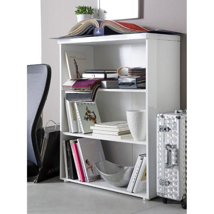Etag re de bureau design carl i coloris blanc l achat - Bureau etagere design ...