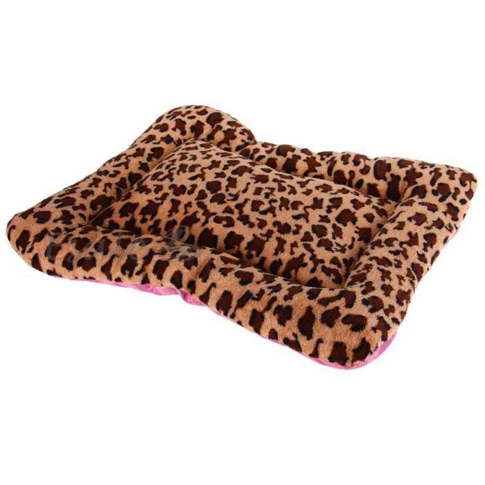 tapis coussin lit matelas couchage motif l opard pour chien chat animaux 50x42cm achat vente. Black Bedroom Furniture Sets. Home Design Ideas