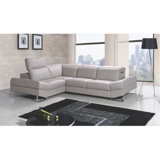 Canap angle infiny convertible taupe gauche achat vente canap sofa - Vente privee canape convertible ...