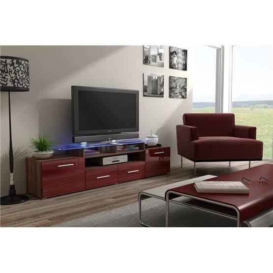 Meuble tv design evori bois et bordeaux achat vente meuble tv meuble tv e - Meuble design bordeaux ...
