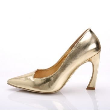 Femme chaussures talons hauts derme chaussures Or