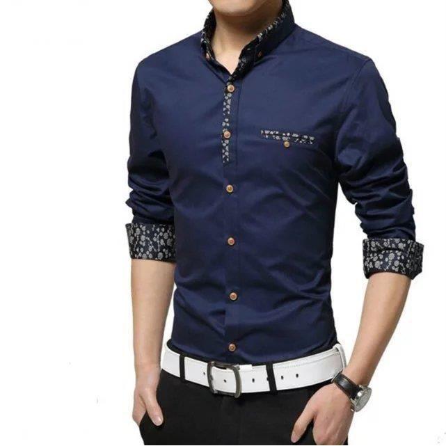 mode imprim chemise homme bleu bleu achat vente chemise chemisette les soldes sur. Black Bedroom Furniture Sets. Home Design Ideas