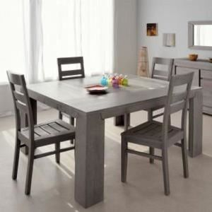 table carree 140x140 achat vente table carree 140x140 pas cher cdiscount. Black Bedroom Furniture Sets. Home Design Ideas