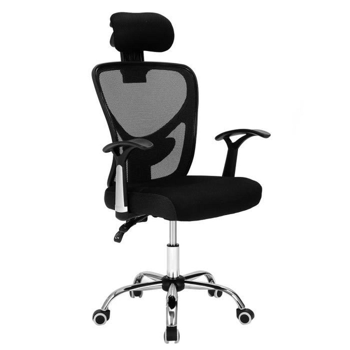 Chaise de bureau si ge fauteuil hauteur et inclinaison for Siege de cuisine hauteur