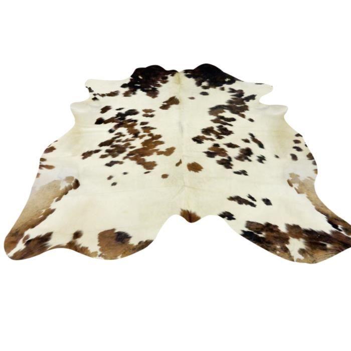 peau de vache premium d 39 am rique du sud noire et blanche motif tricolore environ m2. Black Bedroom Furniture Sets. Home Design Ideas