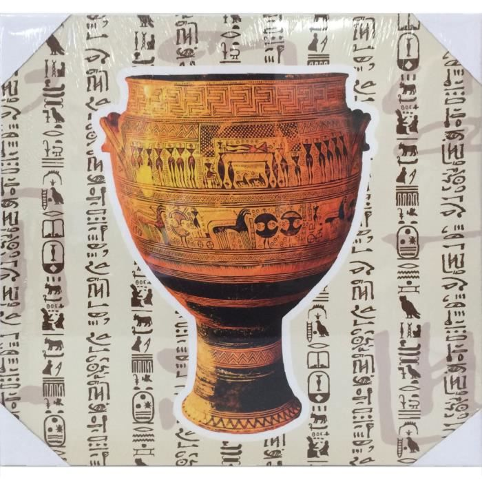 cadre en toile poterie egyptienne achat vente tableau toile cdiscount. Black Bedroom Furniture Sets. Home Design Ideas