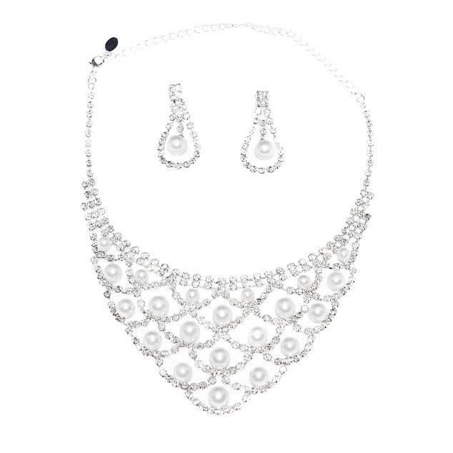 parure perles blanches bijoux mariage ceremonie achat vente parure parure perles blanches. Black Bedroom Furniture Sets. Home Design Ideas