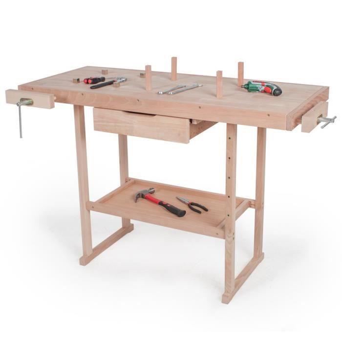 Tabli en bois rangement outils atelier bricolage achat vente etabli me - Rangement pour outils bricolage ...