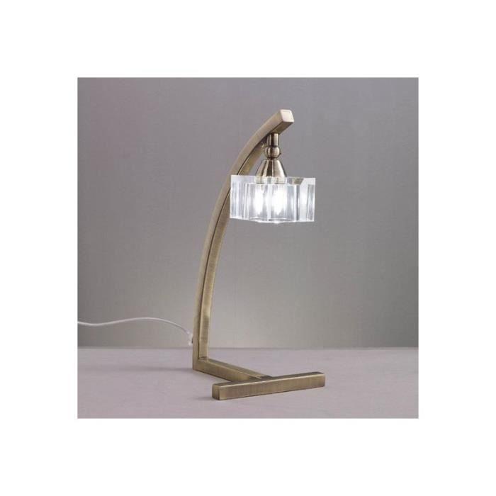 Lampe De Bureau Cubic Laiton Achat Vente Lampe De