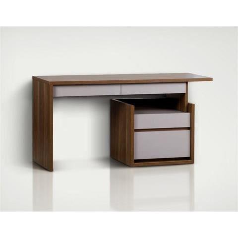 bureau design 150 inbox avec caisson gris anthracite achat vente bureau bureau design. Black Bedroom Furniture Sets. Home Design Ideas