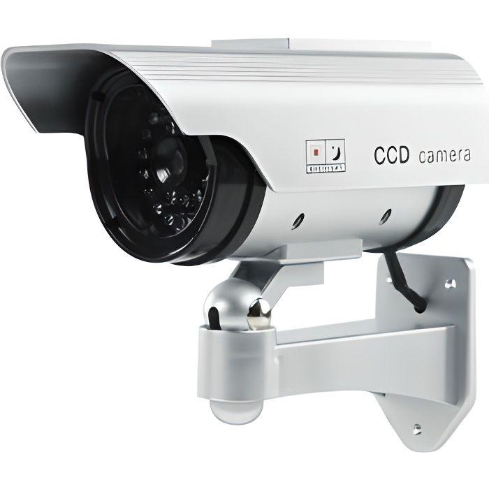 Cam ra factice d 39 ext rieur avec led solaire achat - Camera factice exterieur ...