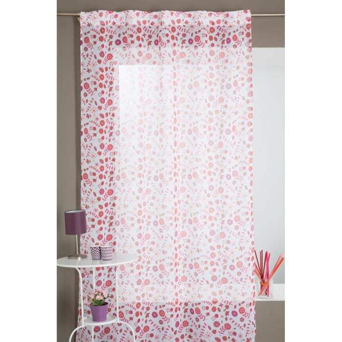 voilage galon fronceur motif petits fleurs multicolores. Black Bedroom Furniture Sets. Home Design Ideas