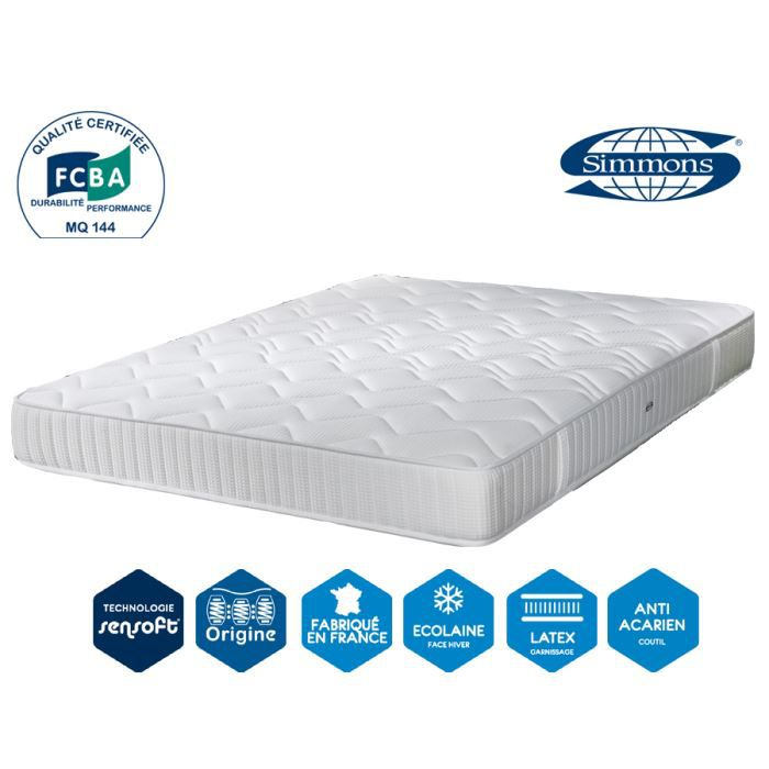 matelas performance luxe 23 cm 160 x 200 simmons achat vente matelas cdiscount. Black Bedroom Furniture Sets. Home Design Ideas