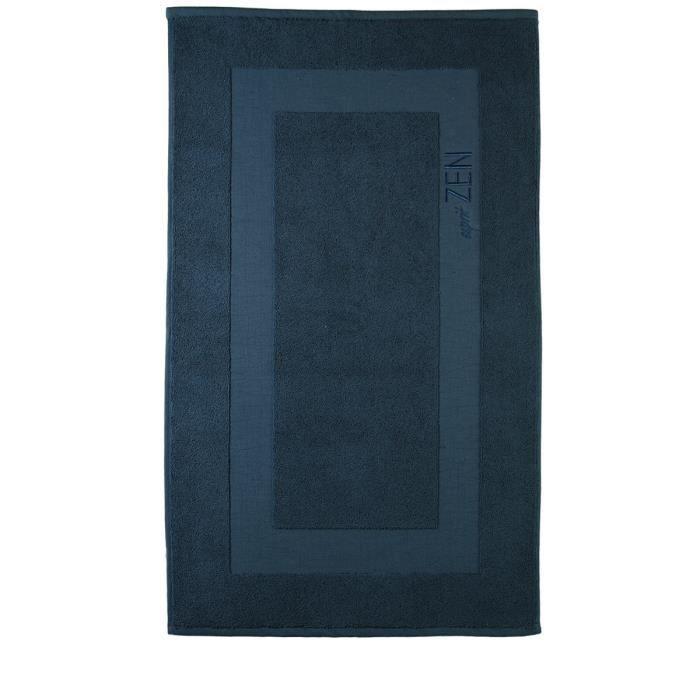 Tapis de salle de bain bleu achat vente tapis de bain for Tapis de salle de bain zen