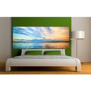 sticker tete de lit achat vente sticker tete de lit pas cher cdiscount. Black Bedroom Furniture Sets. Home Design Ideas