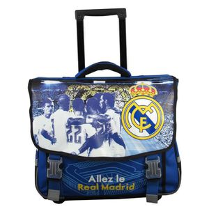 CARTABLE Cartable à roulettes REAL MADRID - Collection offi