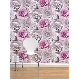 papier peint gris et blanc achat vente papier peint gris et blanc pas cher soldes d hiver. Black Bedroom Furniture Sets. Home Design Ideas