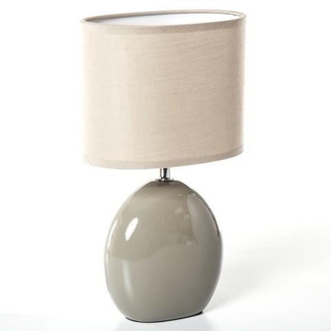 lampe de chevet pied ceramique blanc achat vente lampe. Black Bedroom Furniture Sets. Home Design Ideas