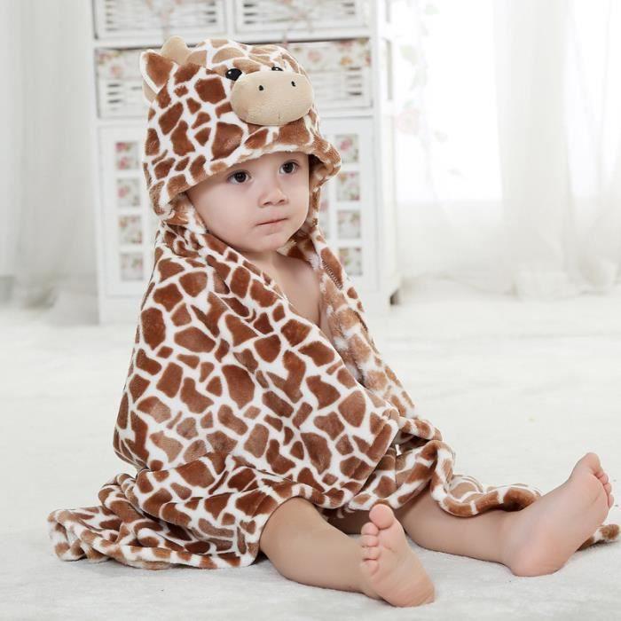 caf vache laiti re couverture de b b infantile peignoir capuche drap sortie de bain dessin. Black Bedroom Furniture Sets. Home Design Ideas