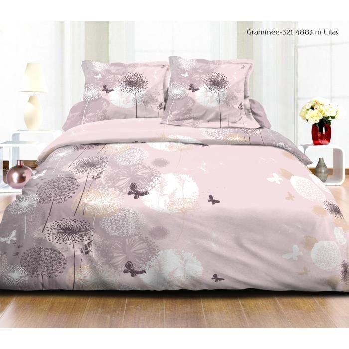 housse de couette butterfly rose achat vente housse de couette cdiscount. Black Bedroom Furniture Sets. Home Design Ideas
