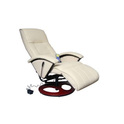 Fauteuil design massant beige achat vente fauteuil polyur thane cuir te - Fauteuil design soldes ...