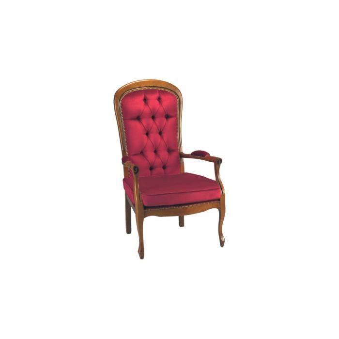 Fauteuils voltaire velours bordeaux capitons x2 achat vente fauteuil - Achat fauteuil voltaire ...