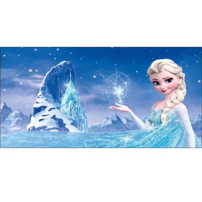 Stickers chambre d enfant t te de lit la reine des neiges r f 8470 dimensions - Dimension lit d enfant ...