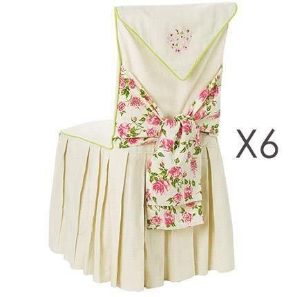 Lot de 6 housses de chaise motif floral achat vente - Housses de chaises ...