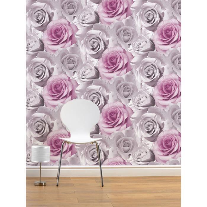 muriva papier peint rose 119505 rose fleurs floral. Black Bedroom Furniture Sets. Home Design Ideas
