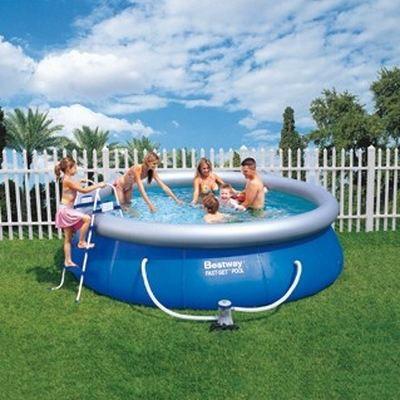 Piscine bestway fast set pool x achat vente for Piscine bestway
