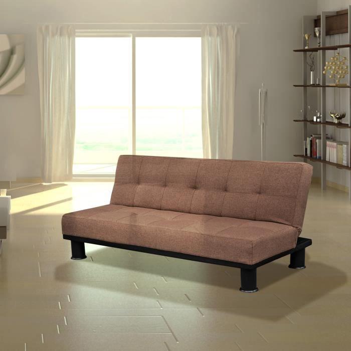 Canap convertible fauteuil sofa banquette lit 3 p achat for Canape convertible haute qualite
